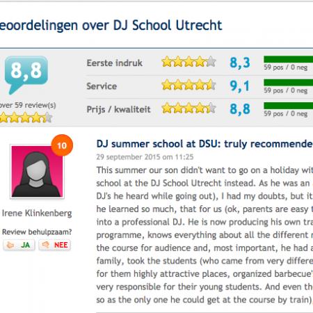 Beoordeling van DJ School Utrecht goeie service