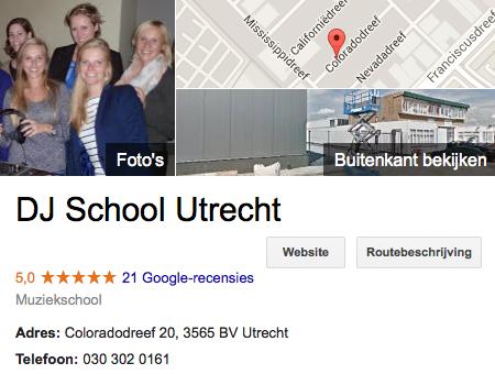 recensie google+ DJ School Utrecht