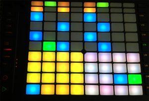 color pads midi controller